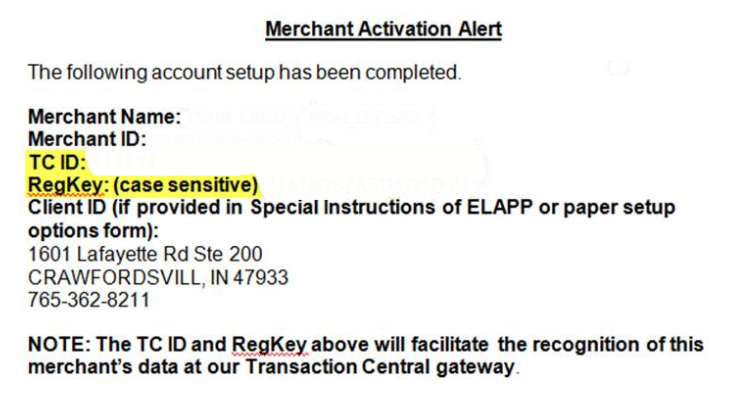 credit card transaction form