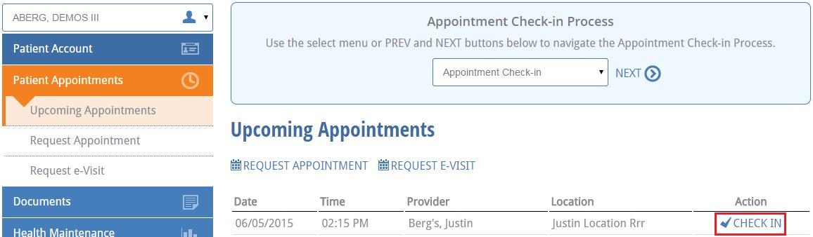 select appointment at NextGen Office Patient Portal